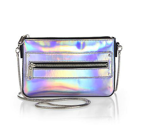 milly crossbody metallic bag