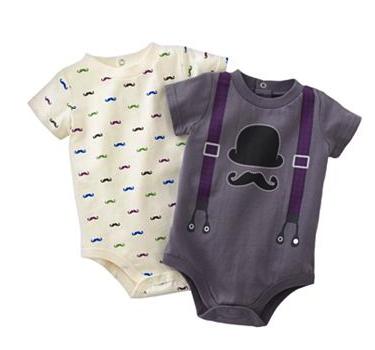 mustache bodysuits
