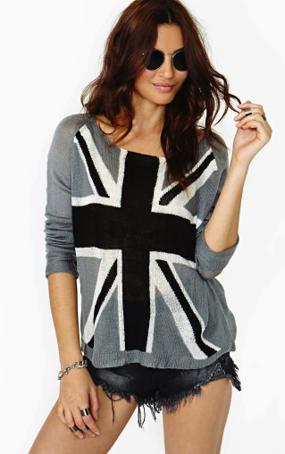 union jack sweater Nasty Gal