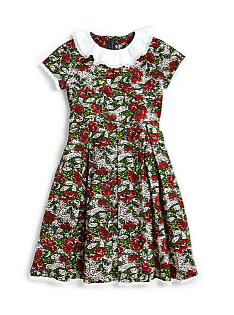 floral print dress pretty princess oscar de la renta