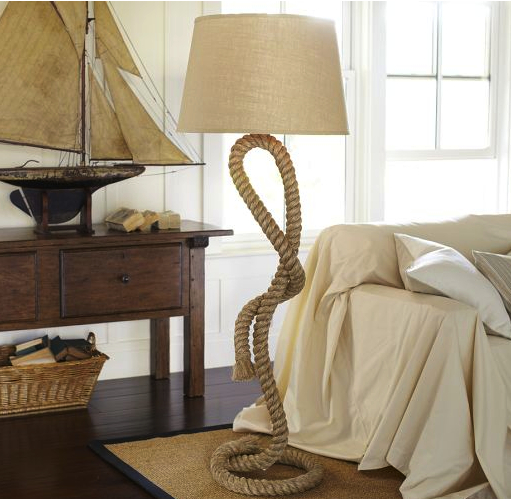 pottery barn rope lamp