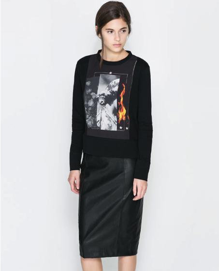 printed sweatshirt Zara