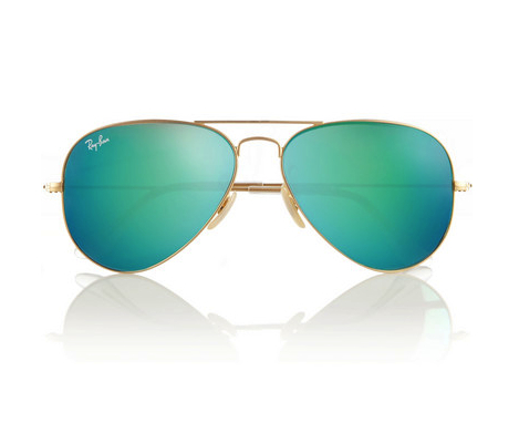 rayban colored mirrored aviators net