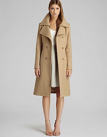 camel coat Reiss