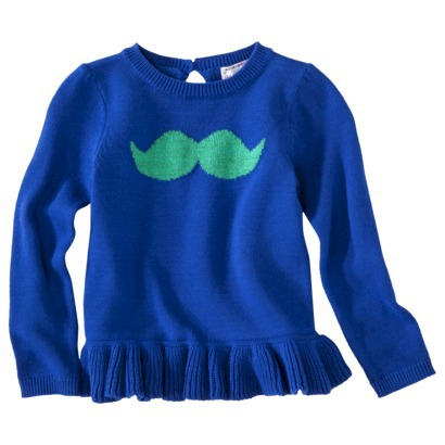 mustache print top