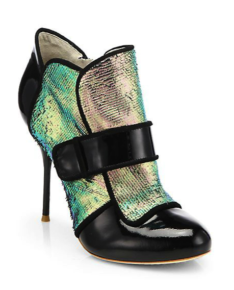 sophia webster shoe bootie metallic saks