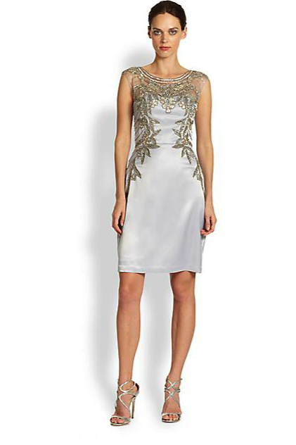 sue wong metallic dress
