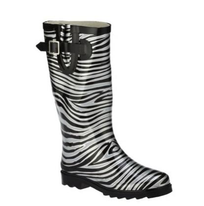 target women's zebra wellies