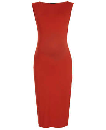Maternity dress red figure hugging Top Shop