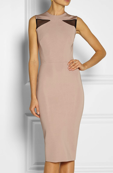 victoria beckham little nude dress