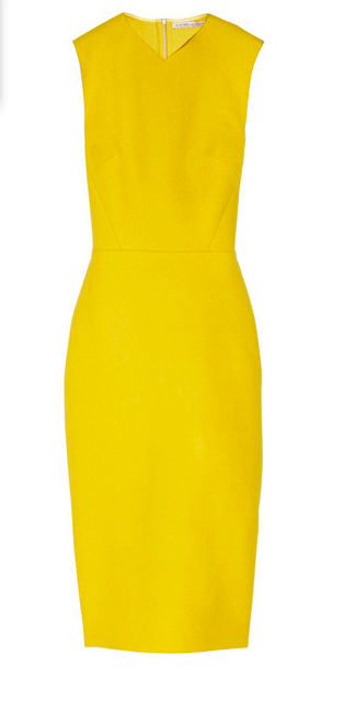 victoria beckham little yellow dress