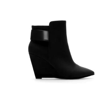 zara black wedge ankle boot