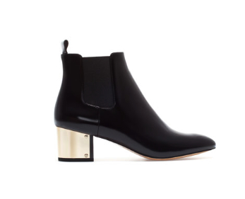 zara boot with metal heel