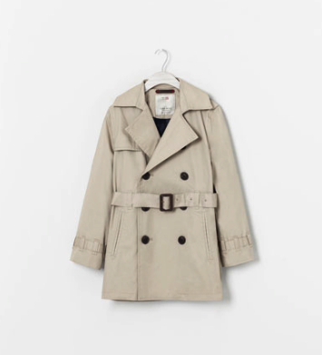 zara boys trench