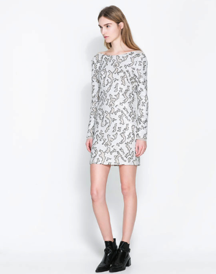 zara sparkle dress