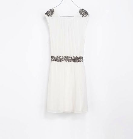 zara white dress under $100