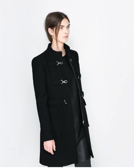 Winter Coat chic black Zara
