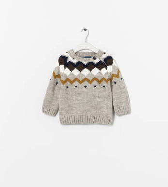boho sweater kids zara