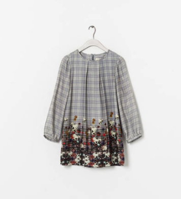 Floral print pretty grunge dress Zara