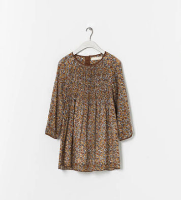 boho dress floral zara kids