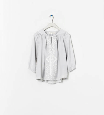 boho blouse kids zara