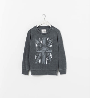 union jack sweatshirt boys Zara