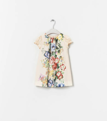 floral print dress pretty princess Zara