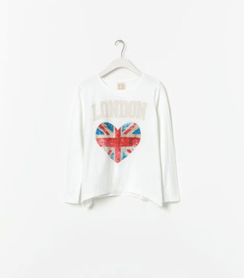 union jack t-shirt zara kids