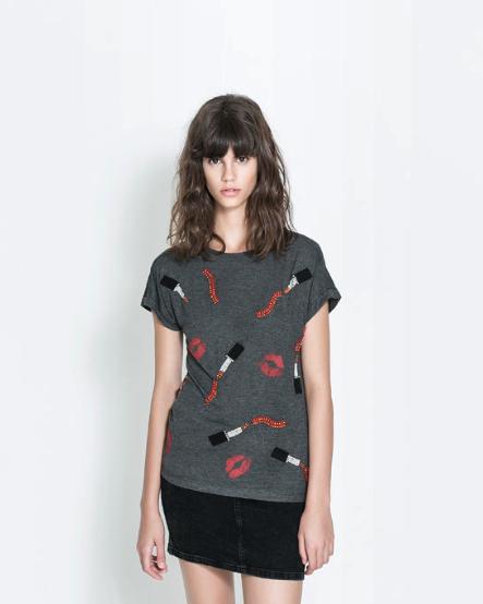 Lip print t-shirt