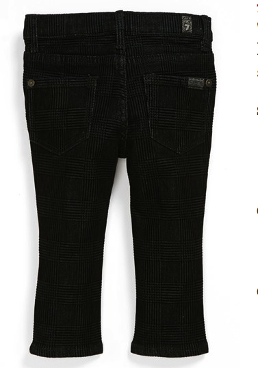 7 for all mankind black houdstooth jeans