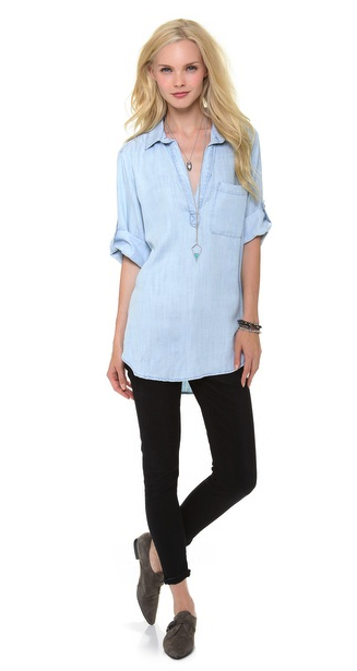 Bella Dahl chambray top