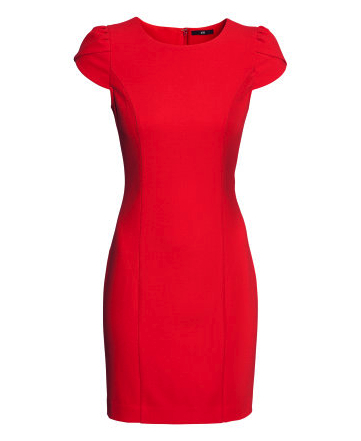 H&M fitted red dress