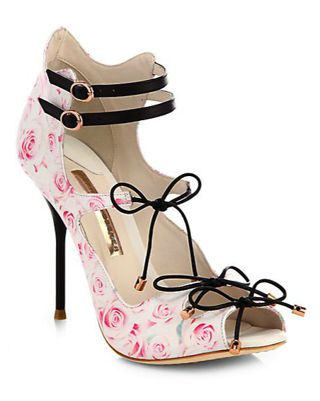 Sophia Webster rose print shoes