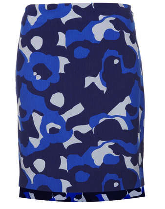 Topshop camo pencil skirt