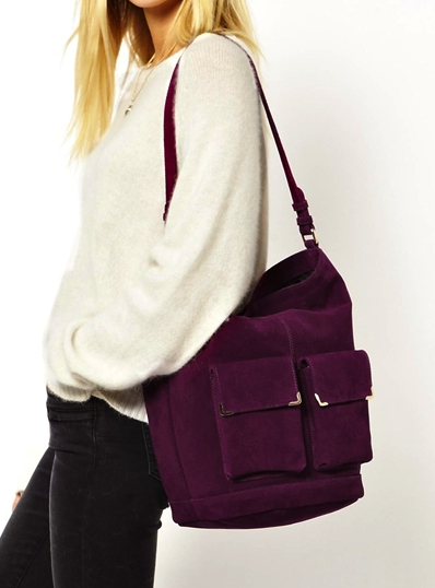asos purple bag