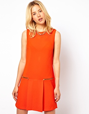 asosorangeshiftdress