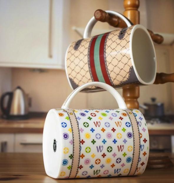 designer handbag mugs