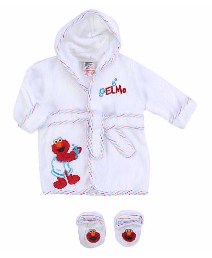 Sesame Street Elmo robe and bootie set