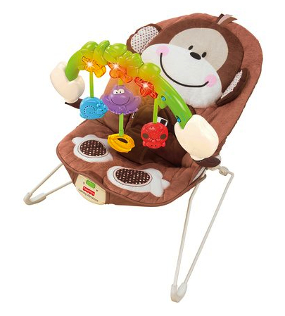 fisher price monkey bouncer diapers
