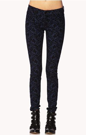 forever 21 velvet baroque jeans