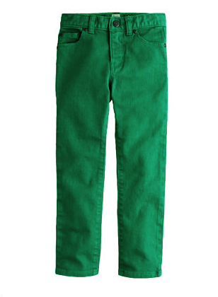 j crew green jeans
