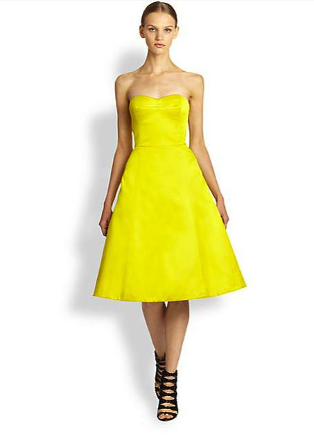 jason wu yellow dress saks