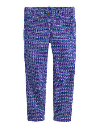 jcrew floral jeans