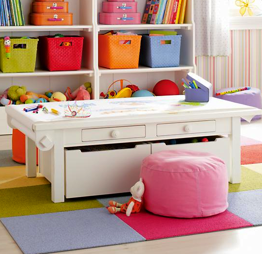 Marvelous Land Of Nod Activity Table With Storage