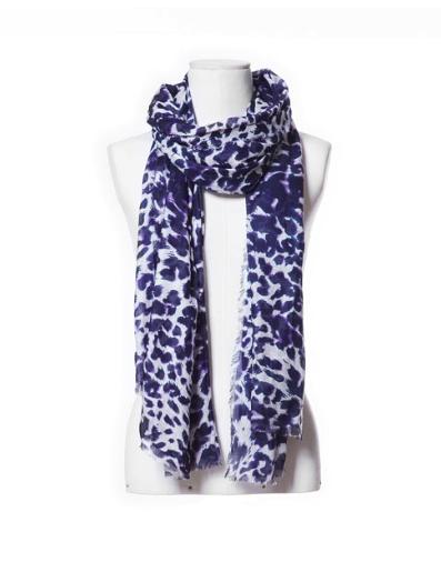 leopard print zara scarf