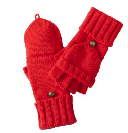 merona flip top gloves