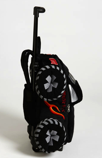 monster truck rolling backpack