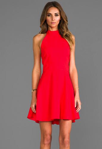 naven red dress revolve