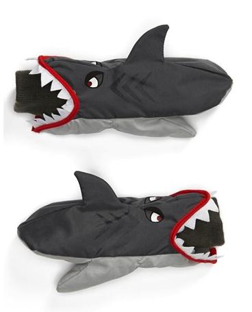 nolan glove shark mittens