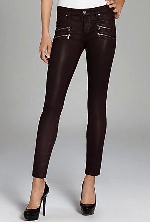 paige coated skinny jeans